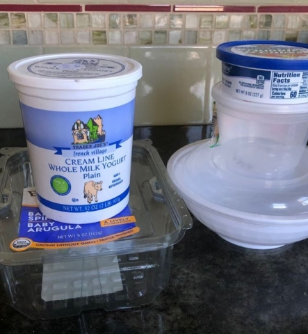 Save take out and reusable containers to send home leftovers