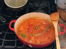 tomato sauce in pot