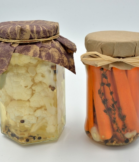 Use up extra leftover veggies by making quick refrigerator pickles flavored to your taste or gifted to friends